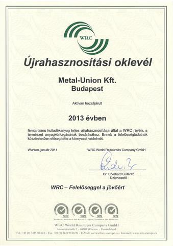 Veszélyes hulladék újrahasznosítása Németországban 2013