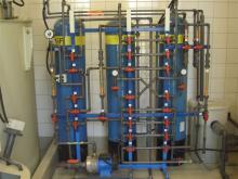 Sewage treatment ion exchanger