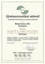WRC Certification 2012