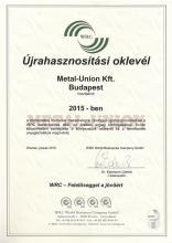 WRC Certification 2015