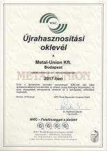 WRC Certification 2017